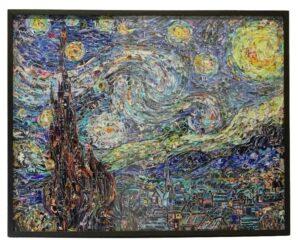 Vik Muniz Starry Night, After Van Gogh Digital